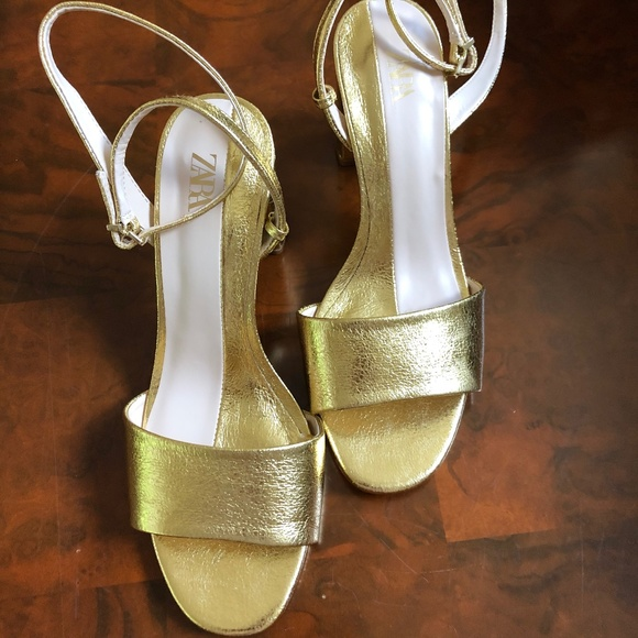 Zara Gold Sandal